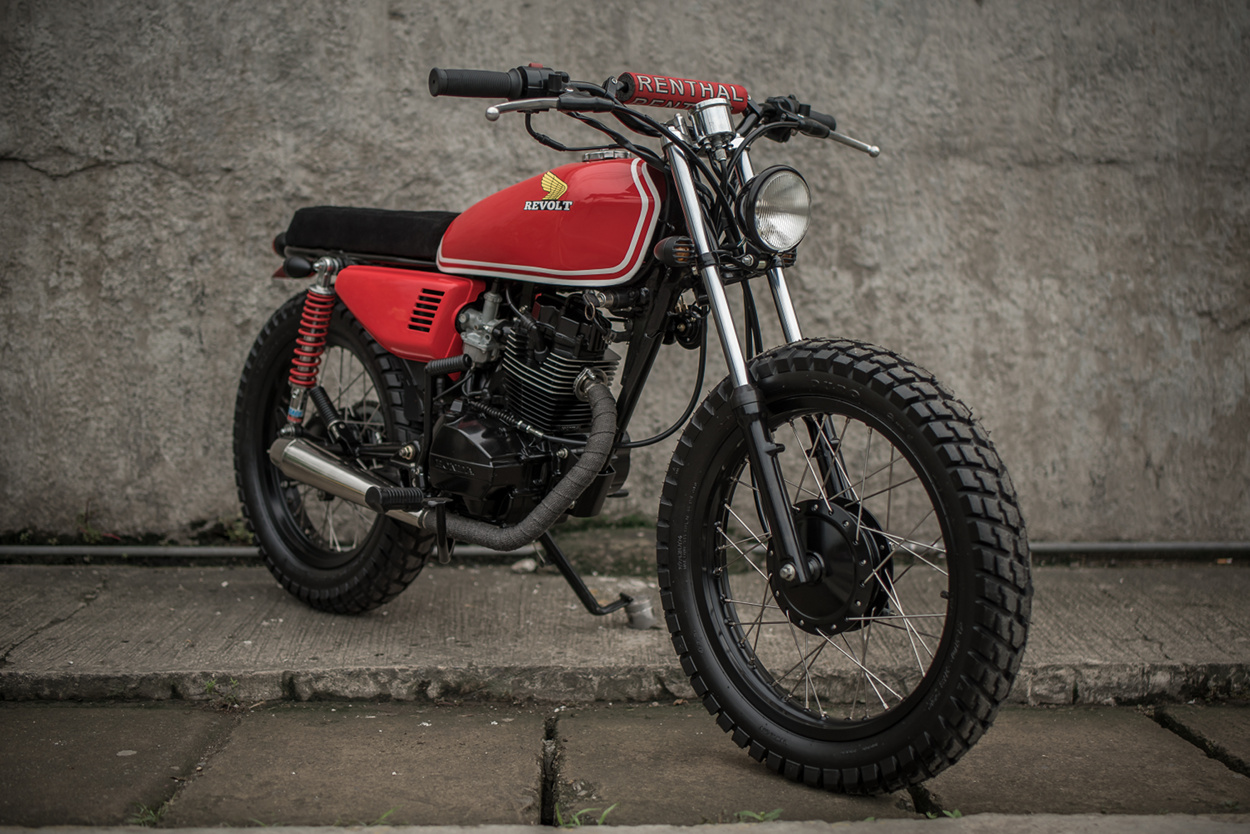 Honda Tmx125 Brat Tracker By Revolt Cycles  U2013 Bikebound