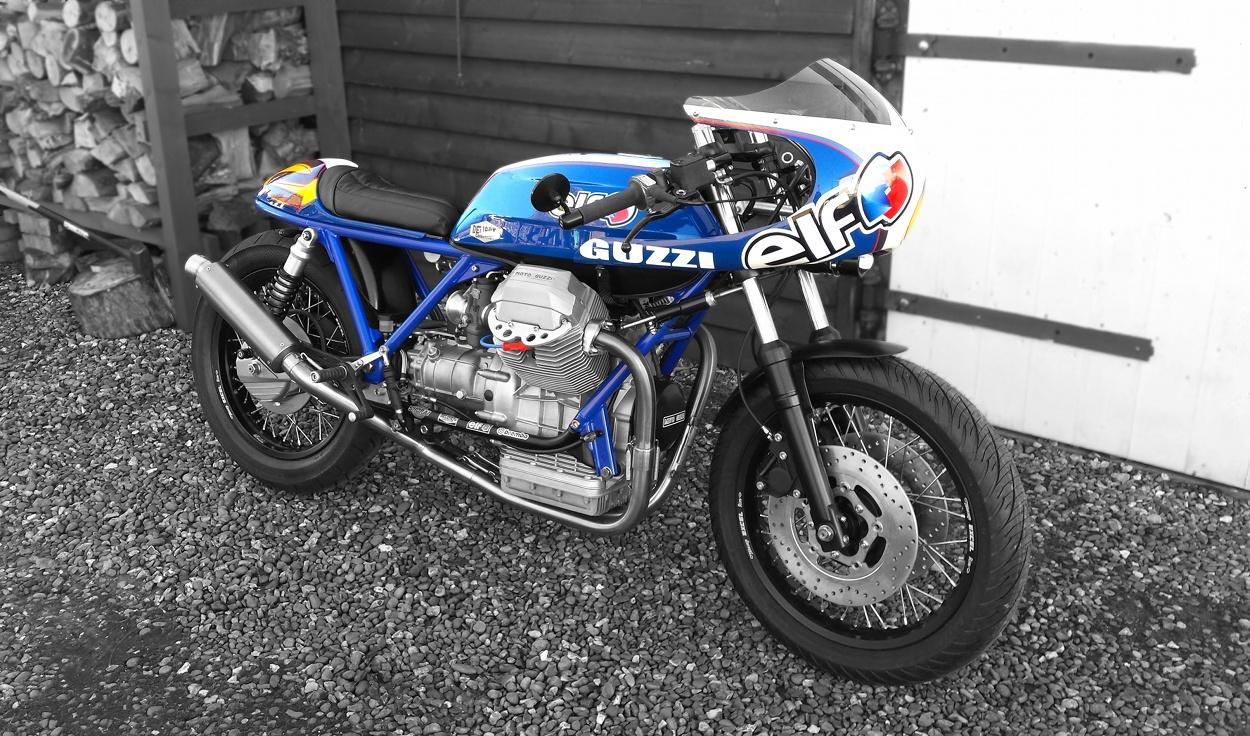 moto guzzi mille gt cafe racer by rcg rocket custom garage bikebound. Black Bedroom Furniture Sets. Home Design Ideas