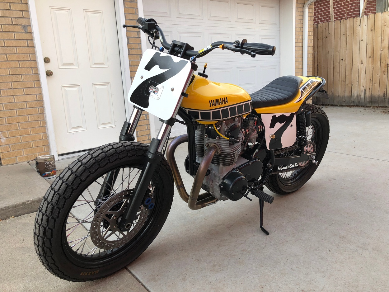 yamaha xs650 street tracker by joe wagner bikebound. Black Bedroom Furniture Sets. Home Design Ideas