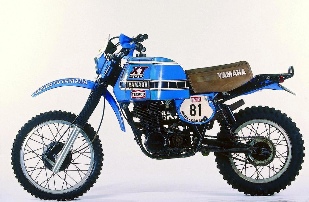 1981 Yamaha XT500 Paris-Dakar Rally bike