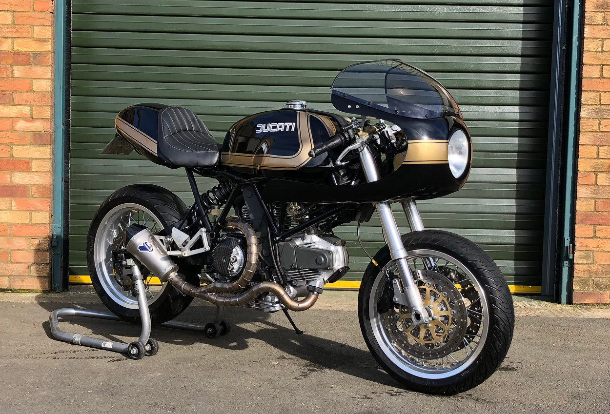 ducati 900ss cafe racer by thornton hundred motorcycles bikebound. Black Bedroom Furniture Sets. Home Design Ideas