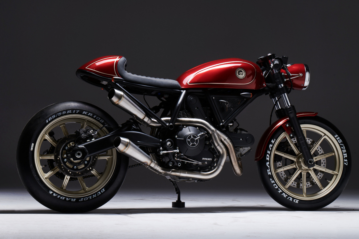 ducati scrambler 400 cafe racer by eastern spirit garage bikebound. Black Bedroom Furniture Sets. Home Design Ideas