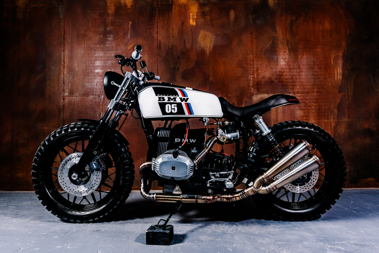 bmw r65 scrambler by voodoo garage bikebound. Black Bedroom Furniture Sets. Home Design Ideas