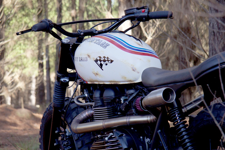 Triumph Bonneville Scrambler by Gasoline Motor Co  – BikeBound
