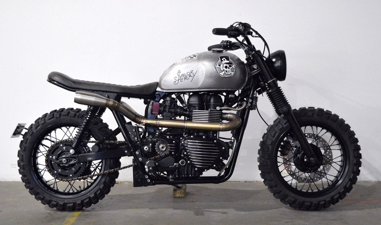 Triumph bonneville scrambler by gasoline motor co bikebound for Construction bonneville