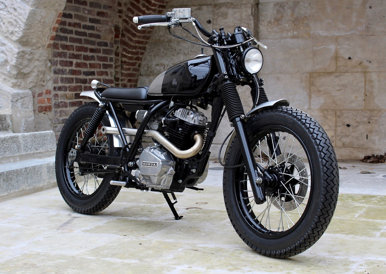 honda nx125 tracker by l tabli garage bikebound. Black Bedroom Furniture Sets. Home Design Ideas