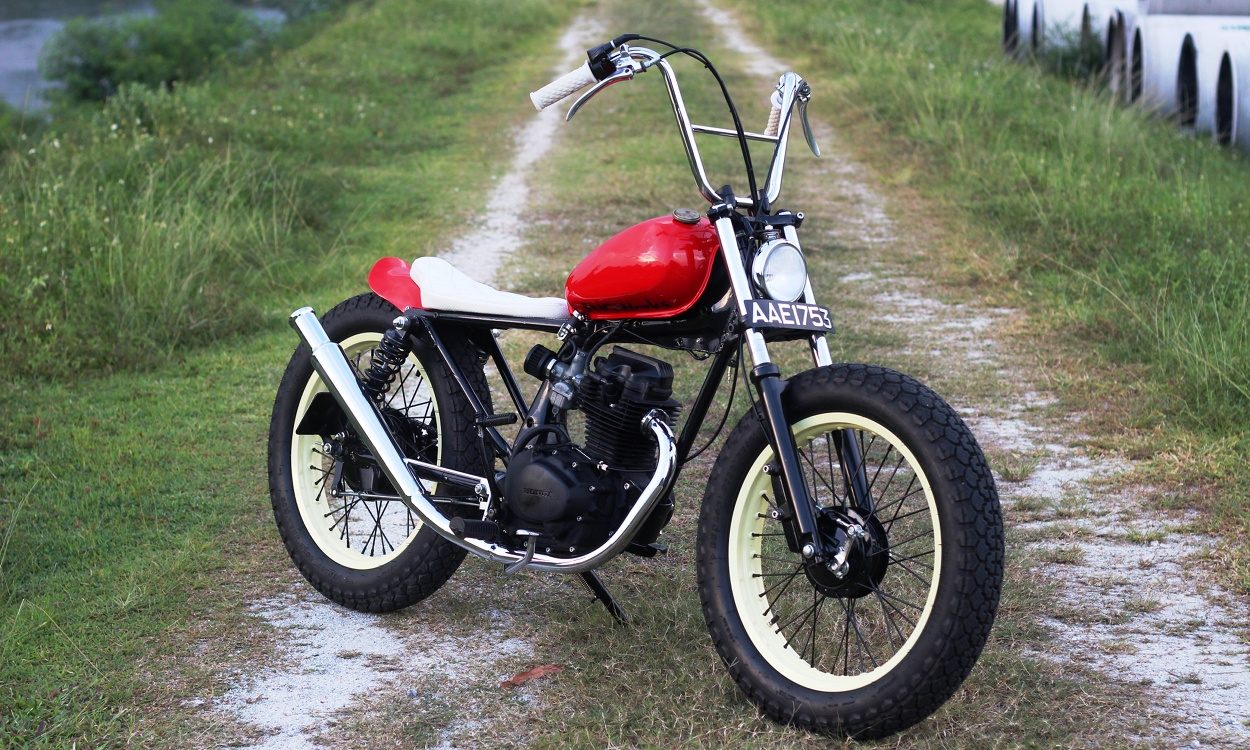 honda cg125 bobber by fng works bikebound. Black Bedroom Furniture Sets. Home Design Ideas