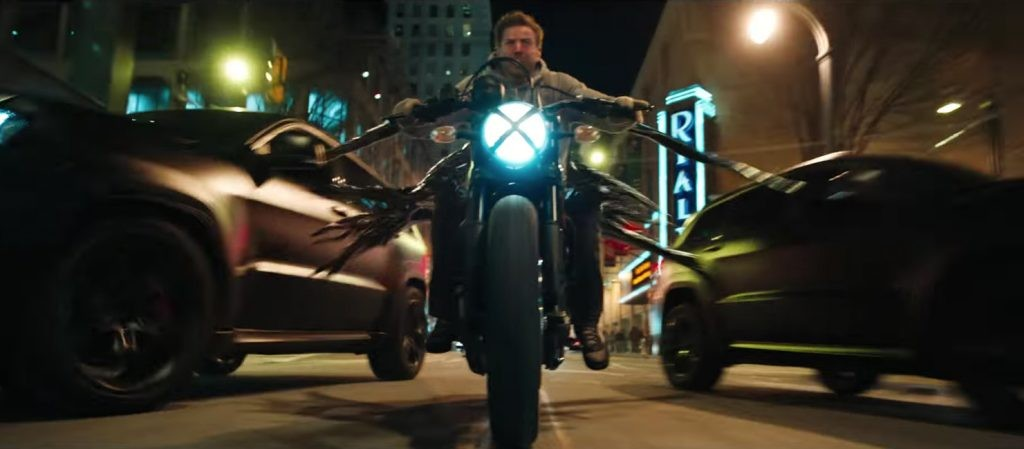What is the motorcycle in Venom
