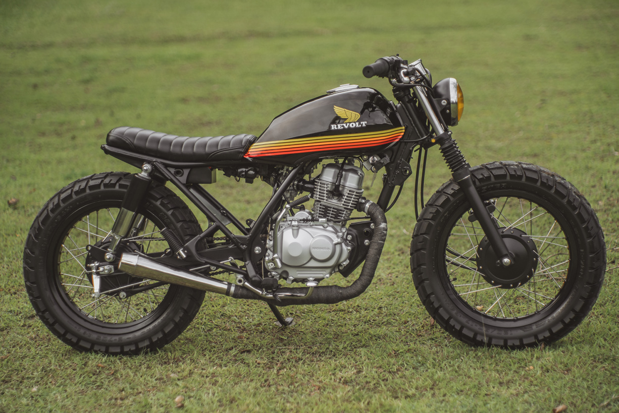 Honda TMX 150 Supremo Brat Tracker By Revolt Cycles