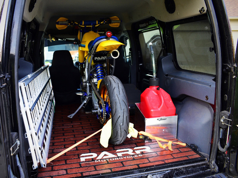 Moto Van Custom Ford Transit Connect By Parr Motorcycles