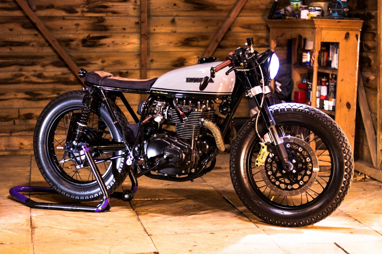 Honda Cb360 Cafe Racer By Aston Neale Motorcycles Bikebound