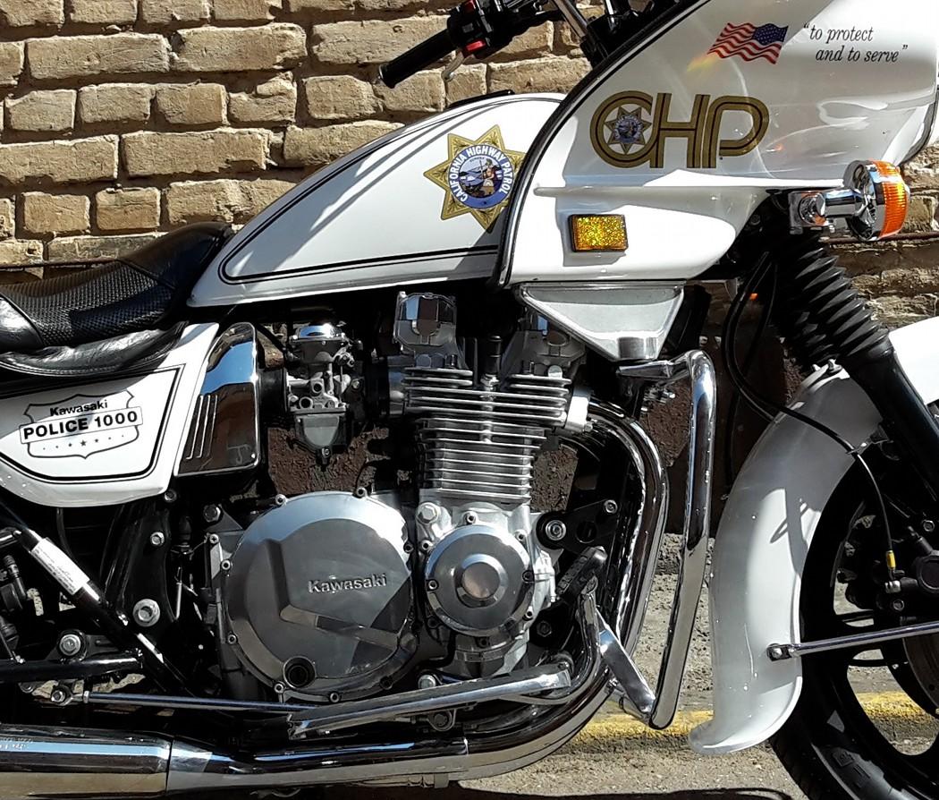 Air Cooled Interceptor Kawasaki Kz1000p Police Special Bikebound