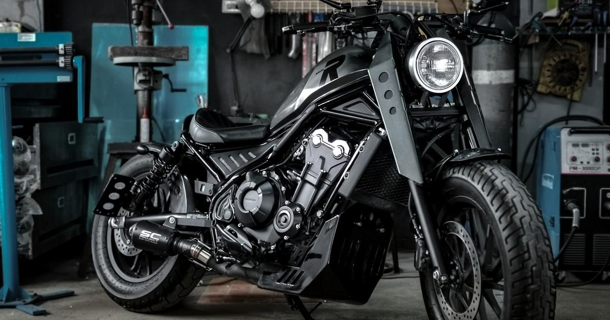 """Mad Bob"" Honda Rebel 500 Bobber by Tokwa Party Garage – BikeBound"