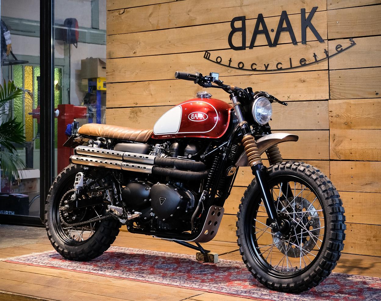 Custom Triumph Scrambler 900 By Baak Motocyclettes Bikebound