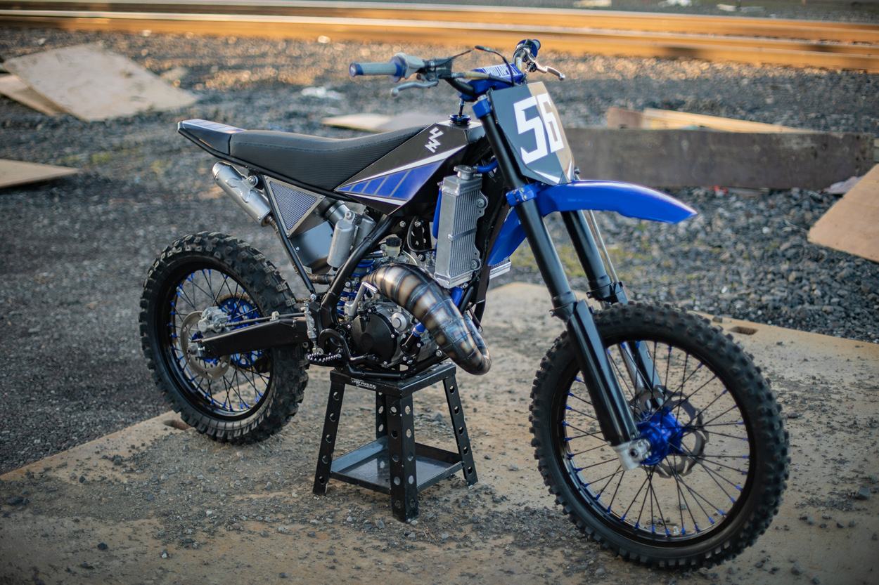 "The Blue Duck"": Custom Yamaha YZ125 by Max Miille – BikeBound"