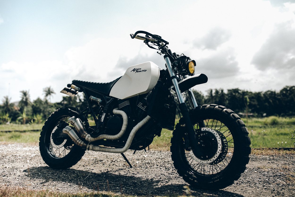 Dakar Honda Africa Twin Scrambler By Treasure Garage Bikebound