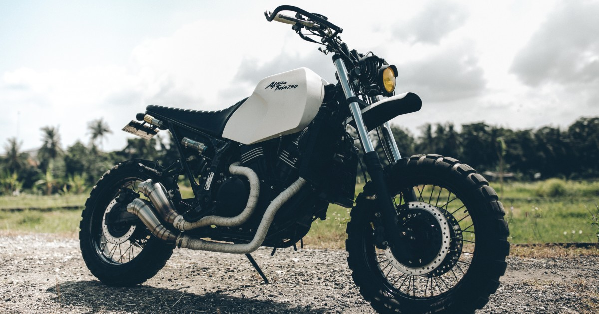 Dakar Honda Africa Twin Scrambler By Treasure Garage