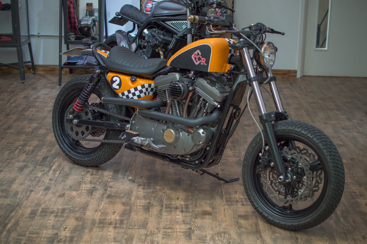 Harley Street Tracker: XL1200 Sportster by Fastec Racing