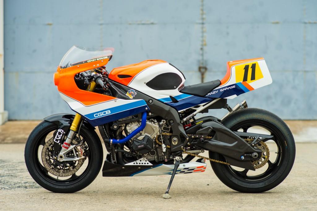 BMW S1000RR Retro Track Bike