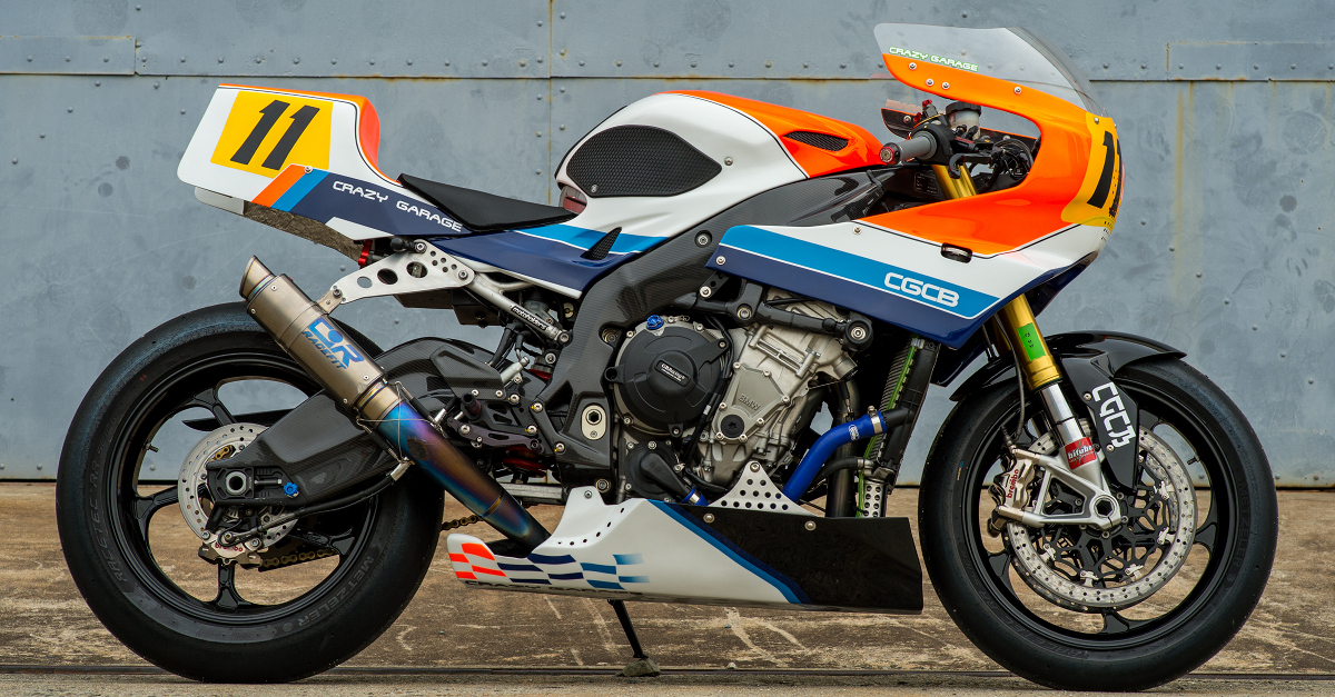 Bmw S1000rr Retro Racer By Crazy Garage Bikebound