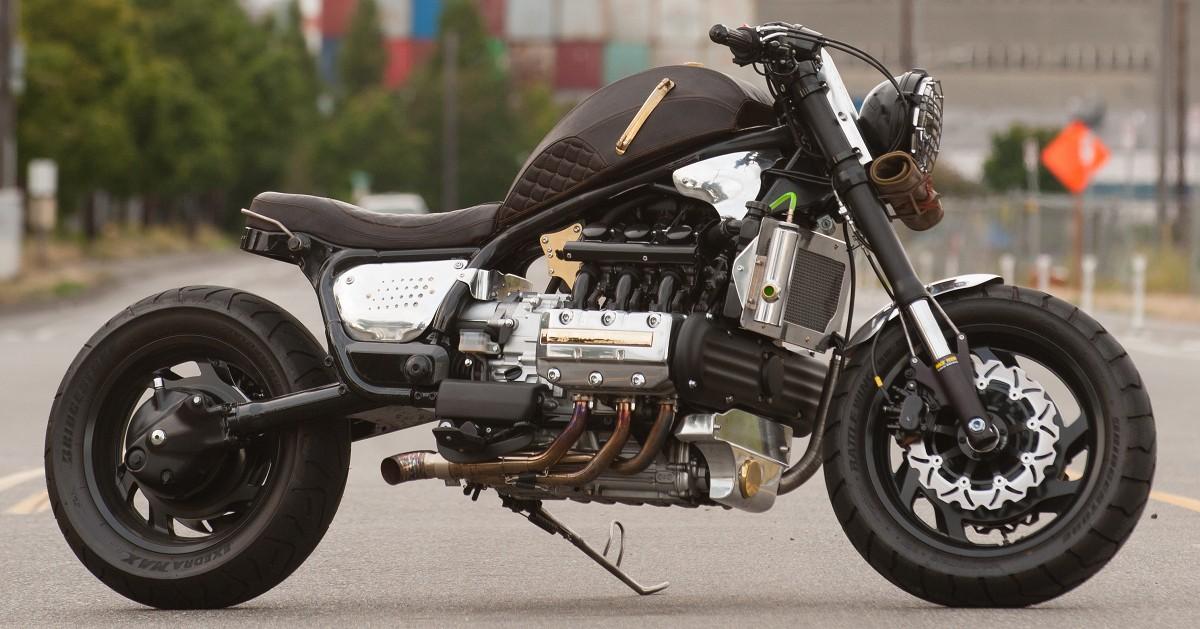 Flat-Six Brat: Honda Valkyrie by Basan Metalworks – BikeBound