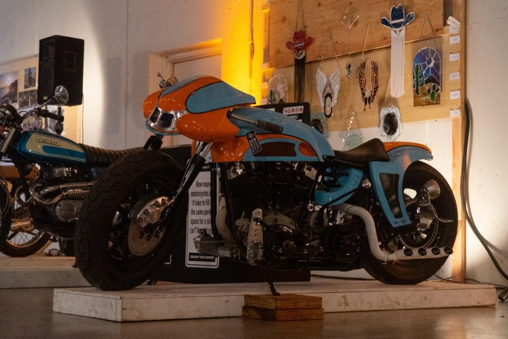 "1977 Harley FLH ""Gulf Racer"" by Super Rat."