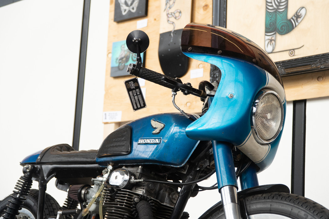 "1969 Honda CB350 ""Blue J"" by Coastal Empire Moto."
