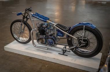 Vintage Triumph Drag Bike