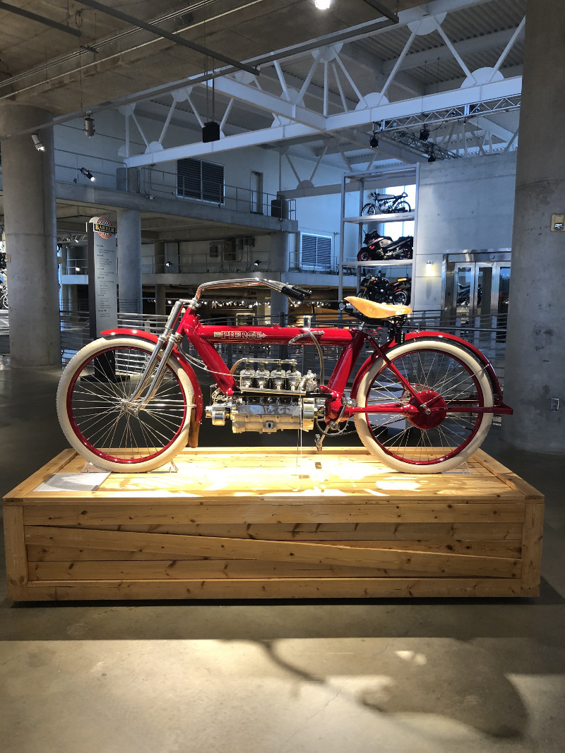 """1910 Pierce Four """"The Vibrationless Motorcycle"""""""