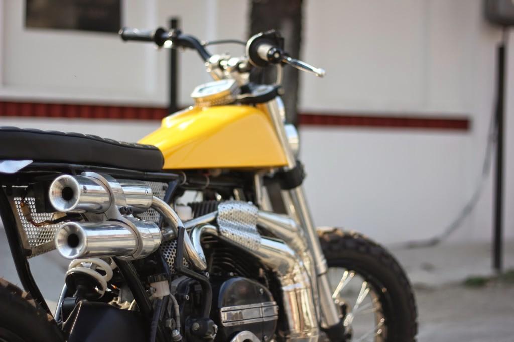 RD350 custom exhaust