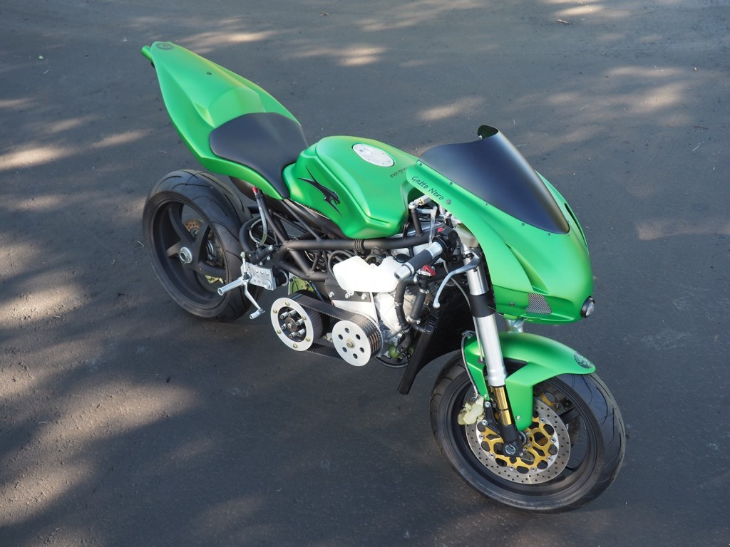Snowmobile-Powered Motorcycle
