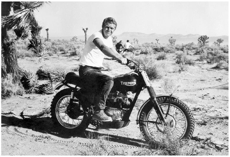 Steve McQueen TR6 Desert Sled