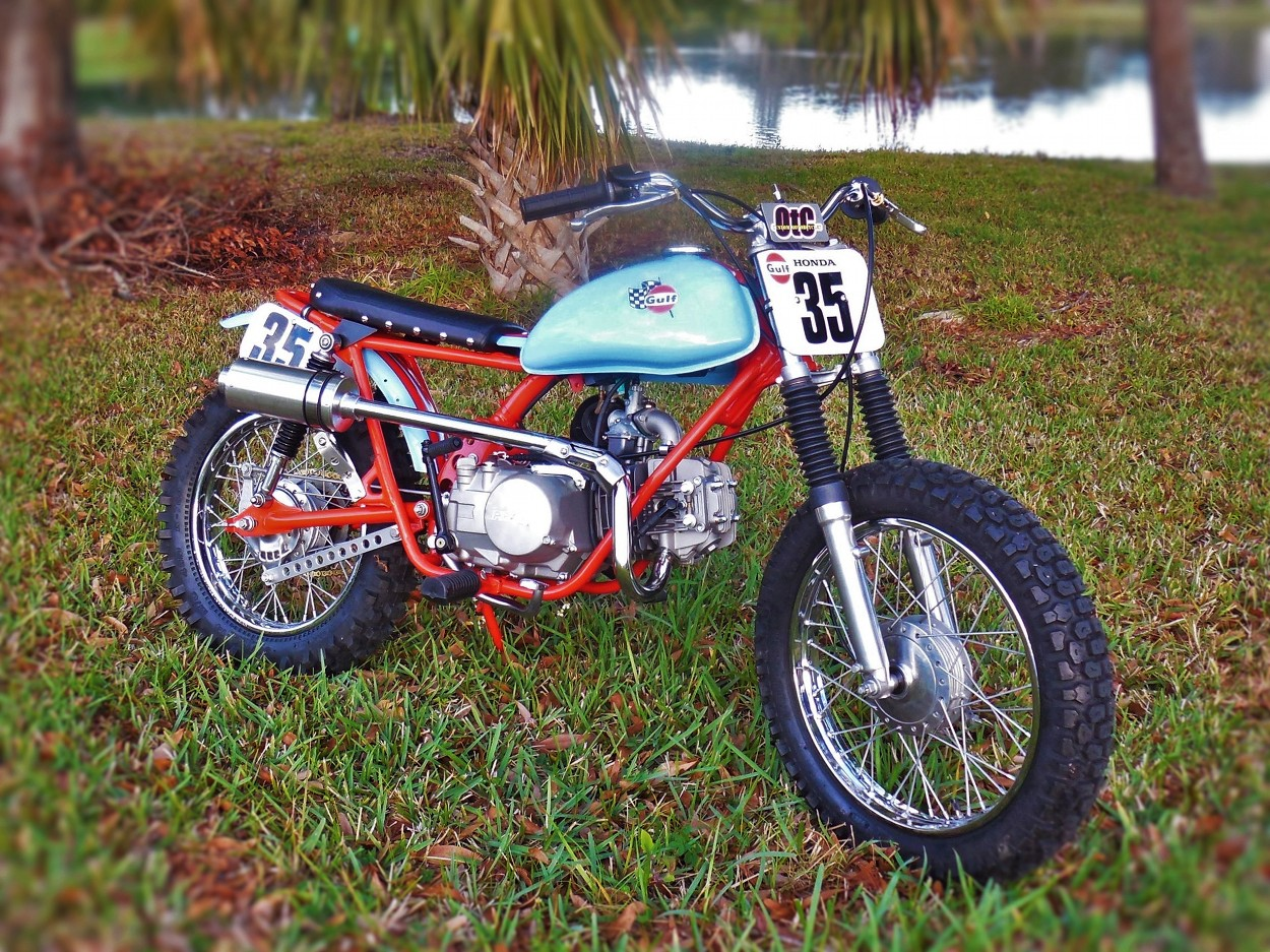 Honda Sl70 Tracker By Otc Custom Motorcycles Bikebound Old Mini Bikes