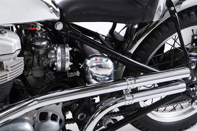 Kawasaki W650 Custom Bobber Tracker