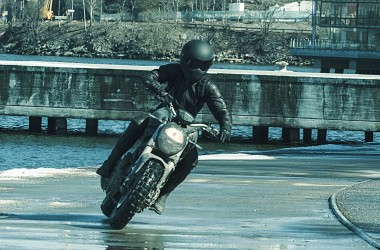 The Girl in the Spiders Web Motorcycle