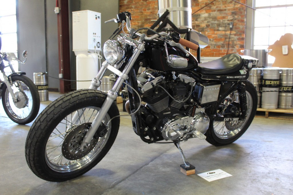 Harley Sportster by Hunter Collett of Thick Skin Leatherworks.