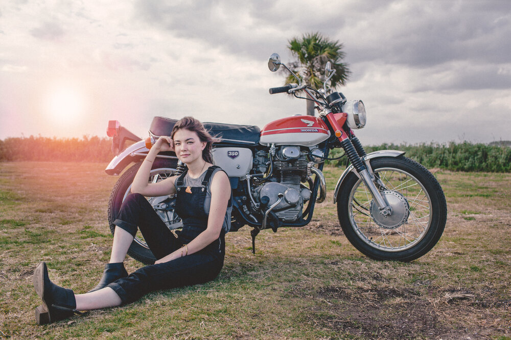 Victory Moto Show founder Anna Heritage