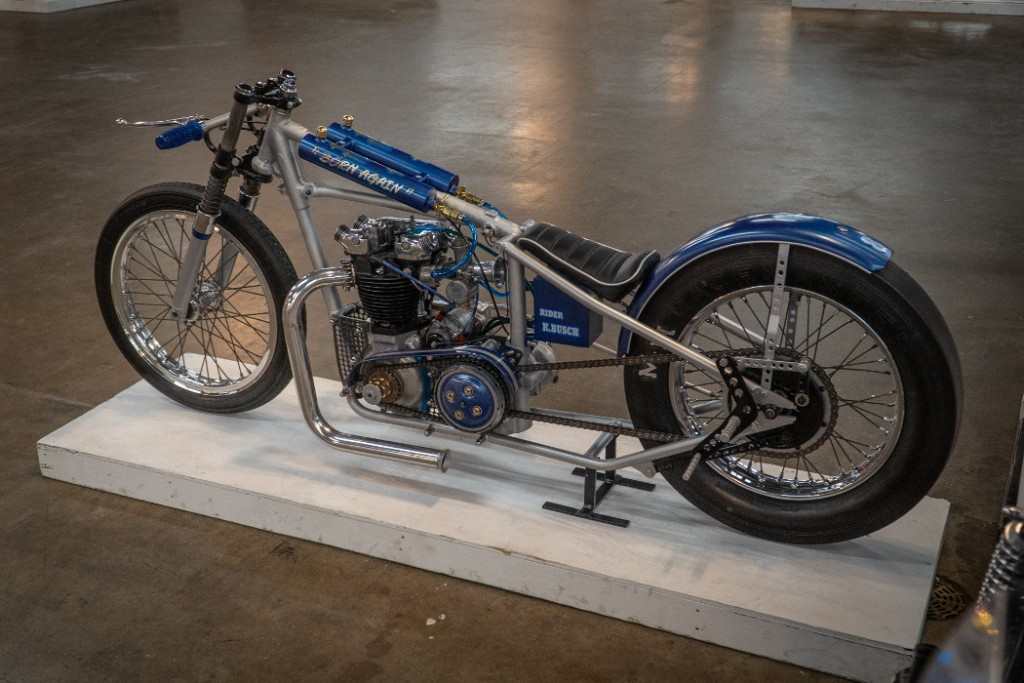 """1955 Triumph """"Born Again"""" Drag Bike by K. Busch"""
