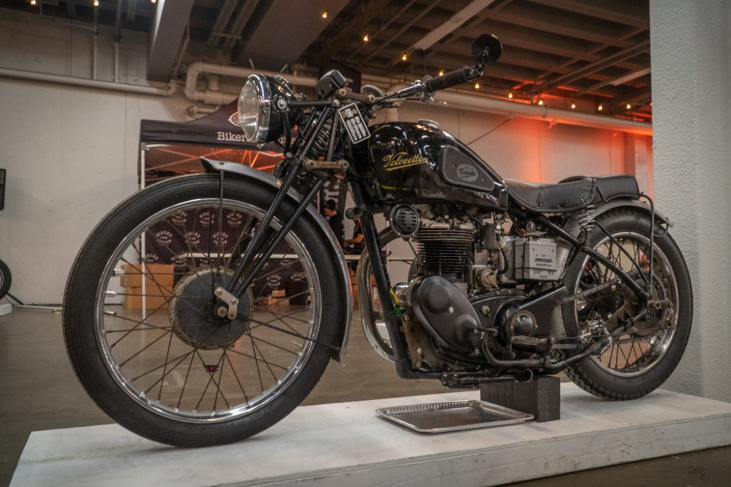 1948 Velocette by L. Wright.