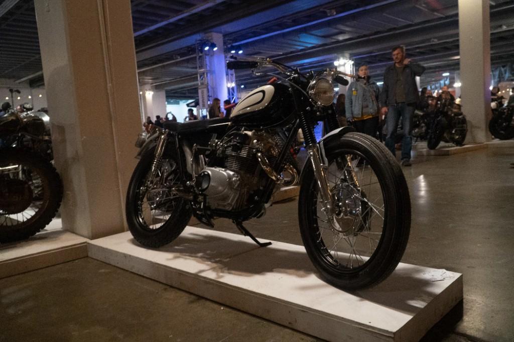 "1974 Honda CB200 ""Super Scrambler"" by Rawhide Cycles."