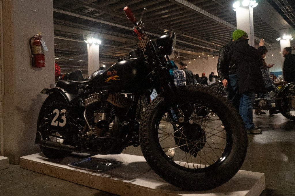 """1963 H-D WLA """"Salty Dog"""" Flats Racer by North West / Guerrero."""