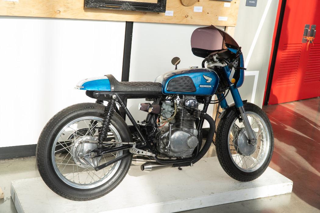 """1969 Honda CB350 """"Blue J"""" by Coastal Empire Moto."""