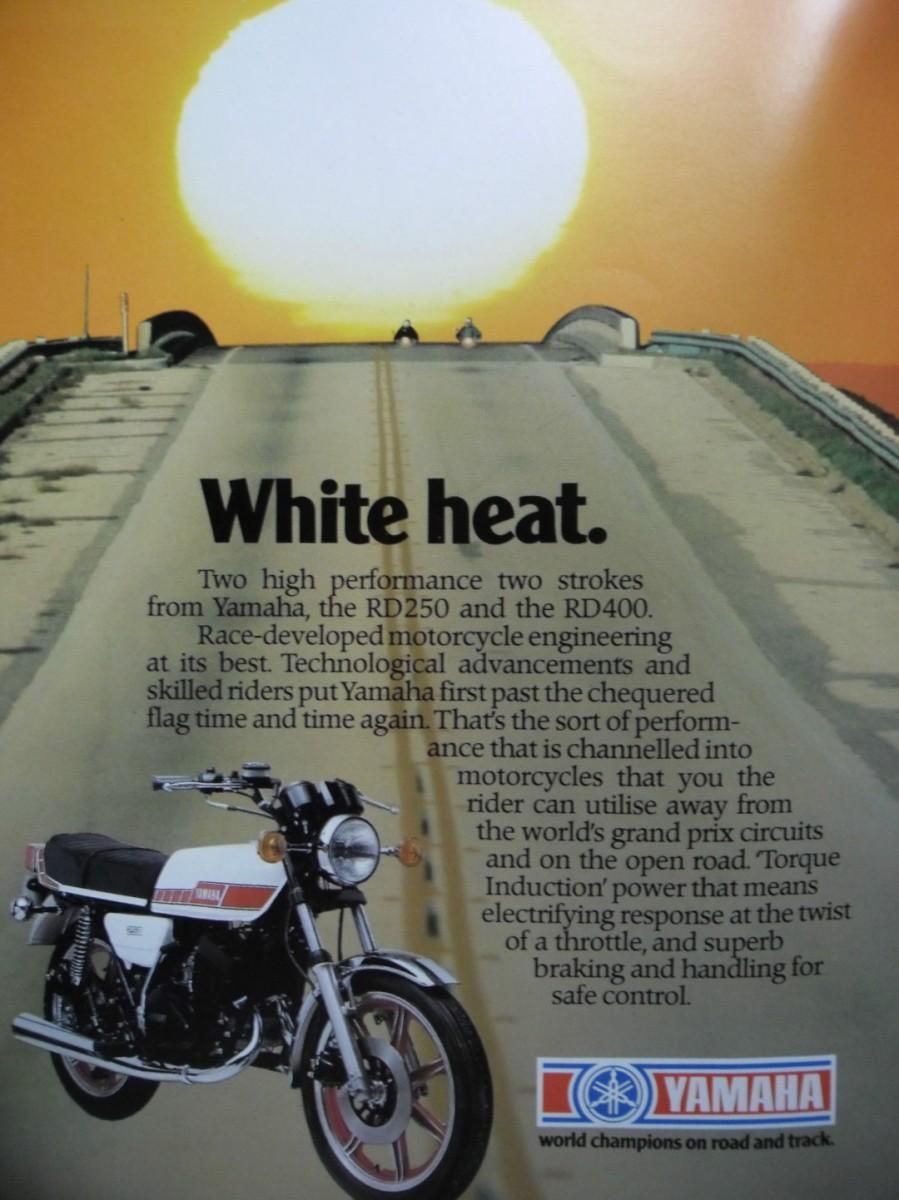 Yamaha RD400 White Heat