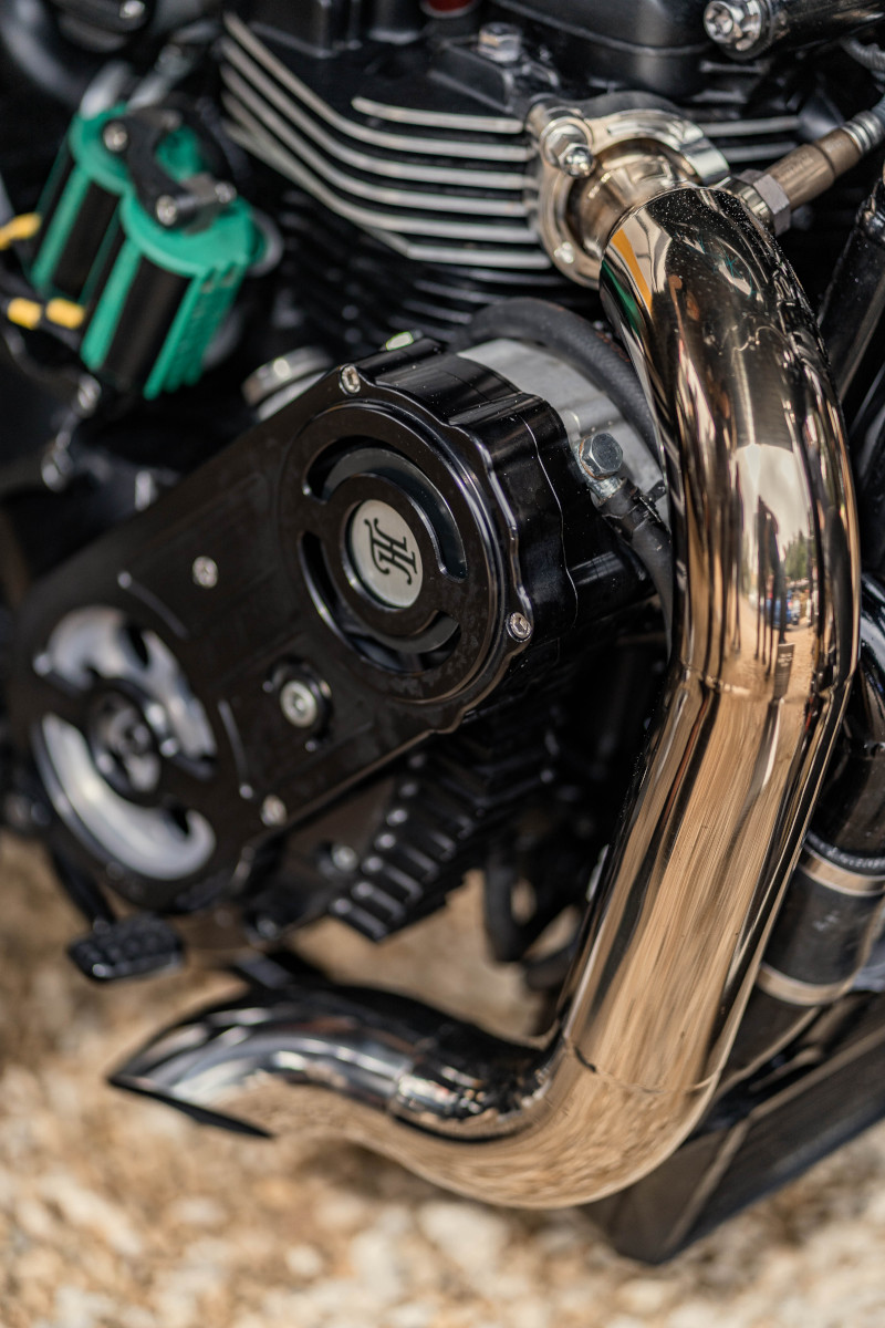 Supercharged Triumph Bobber